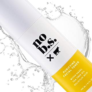 No B.S. Salicylic Acid Face Toner with Witch Hazel, Lavender, and Tea Tree Oil - Pore Minimizer. Fights Acne.
