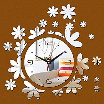 CLG-FLY handmade large retro Iron Roman wall clock 3D DIY metal wall clock #