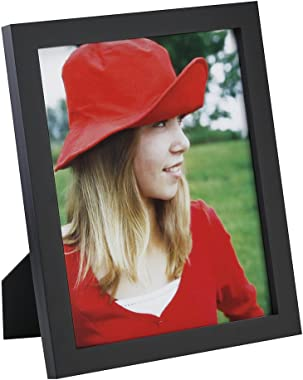 RPJC 8x10 Picture Frames Made of Solid Wood High Definition Glass for Table Top Display and Wall Mounting Photo Frame Black