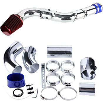 """Filtre à air de voiture, VerRich Kit d'induction de tuyauterie en aluminium d'admission d'air universel de 3""""76MM"""