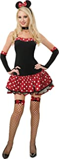 Adult Women's Naughty Sexy Minnie Mouse Style Costume