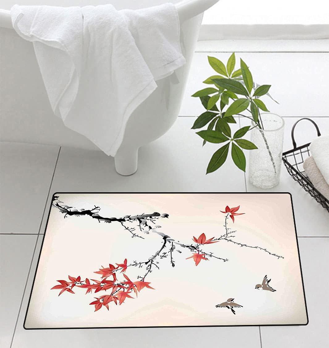 Amazing Max 81% OFF Japanese Doormat Cherry Blossom Rom Sakura Tree Branches Max 61% OFF