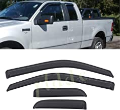 Out-Channel Vent Window Visors For Ford F150 F-150 Super Cab Ext Cab 17-18 4pcs