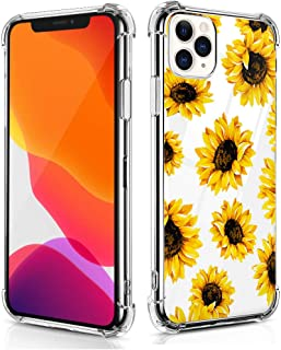 RicHyun Sunflower Case for iPhone 11 Pro, Clear Floral Pattern Soft Flexible TPU Protective Bumper Case for iPhone 11 Pro 2019