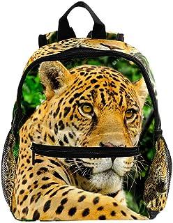 Mochila bebé Leopardo Amarillo Mochila Infantil Pequeña Bolso para Niños Niñas 3-8 Años Escuela Guarderia Viaje Bolsa Esco...