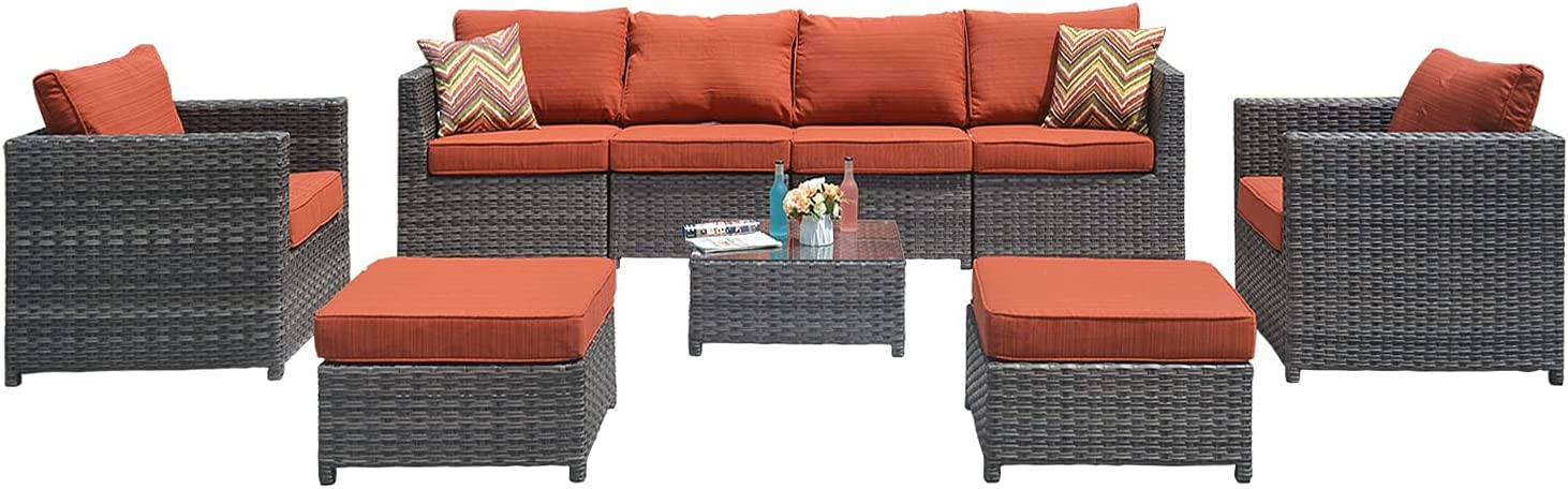 XIZZI Outdoor Patio Furniture No PCS Rare Assembly 9 Big Size shipfree