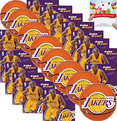 Check Out This Amscan Kob Basketball Party Supplies LA Lake Plates and Napkins Bundle Set