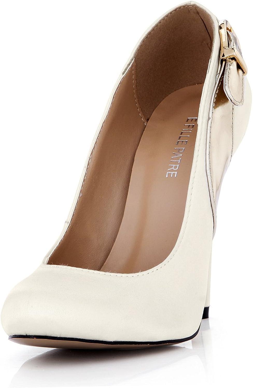 DolphinGirl Women Fashion White Pointy Toe 12CM High Heels Dress Pumps Stiletto shoes SM00103