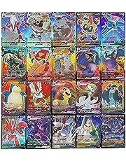 Tawohi Pokemon kaarten GX verzamelkaarten, Pokémon kaartspellen, 100 stuks set met 50 Vmax kaarten + 50 V-kaarten