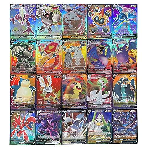 Tawohi Cartas Pokemon GX, Juegos de Cartas Pokemon para niños, Juego de 100 Cartas Pokemon con 50 Cartas Vmax+50 Cartas V