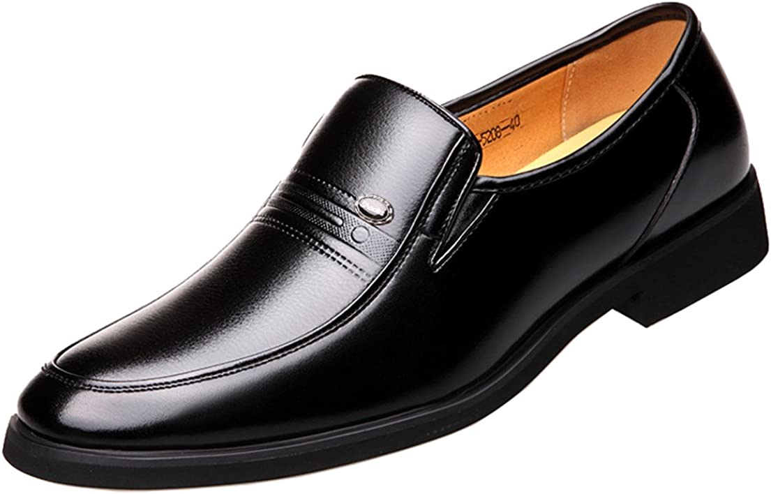 Men's Business Oxford Dress Casual Leather Shoes Breathable Loafers