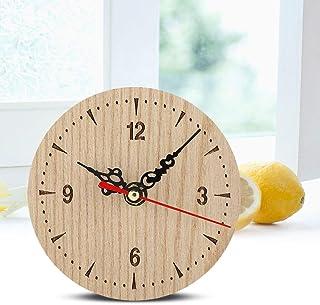 logozoe Grande Horloge de Bureau Cadeau, Horloge de Table, Horloge de Bureau en Bois pour Le Bureau(12cm in Diameter)