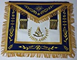 Past Master Royal Blue Apron Gold Embroidered with Fringe