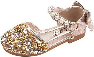 Jimmackey- Scarpe con Tacco Ragazza Zarupeng Ballerine Bambina Cerimonia Festa Lustrino Nozze Scarpe da Principessa Elegan...