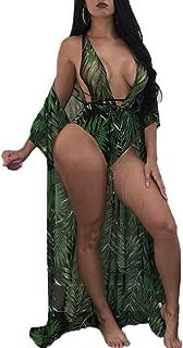 Womens One Piece Swimsuit Snakeskin Print Monokini Long Beach Bikini Cover Up
