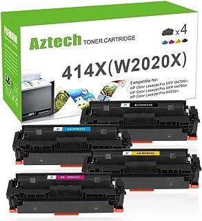 Aztech Compatible Toner Cartridge Replacement for HP 414X 414A W2020X W2020A for HP Color Laserjet Pro MFP M479fdw M454dn ...