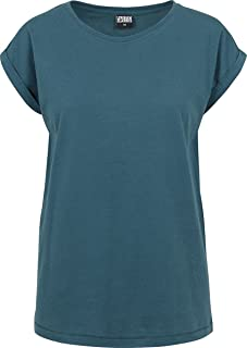 Urban Classics dam utökad axel t-shirt basic capsleeves, kortärmad t-shirt med rund hals