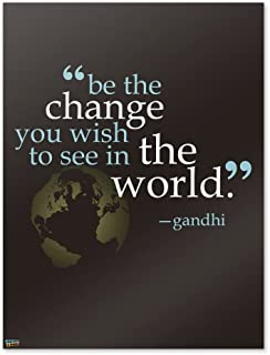 GRAPHICS & MORE Be Change You Wish to See Quote Gandhi Home Business Office Sign