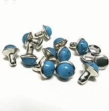 100sets 7mm Blue Turquoise Rivets Studs Nailhead Rock Biker Punk DP208