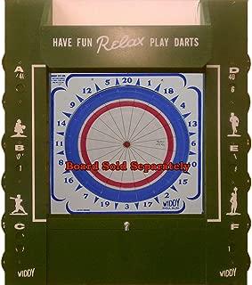 Widdy Genuine Dartboard Dart Board Cabinet w/Scoreboard & Light