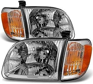 For 2000 2001 2002 2003 2004 Toyota Tundra Regular | Access Cab Headlights w/ Corner Lights LH + RH Pair
