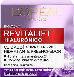 Creme Anti Idade L'Oréal Revitalift Hialurônico Diurno Fps 20, L'Oréal Paris