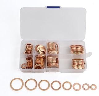 銅リング クラッシュ ワッシャー ガスケット セット 8サイズ 計120個 座金 交換 メンテナンス