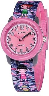 Kinderhorloge Cartoon Horloge Waterdicht Kinderlint Cartoon Quartz horloge (roze)