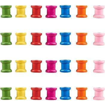 PandaHall Elite 20 bobinas de plástico blanco de 1,5 pulgadas de alambre vacío, bobinas de hilo de hilo para cuerda de cuerda para manualidades, Blanco, 20PCS-58mm high: Amazon.es: Hogar