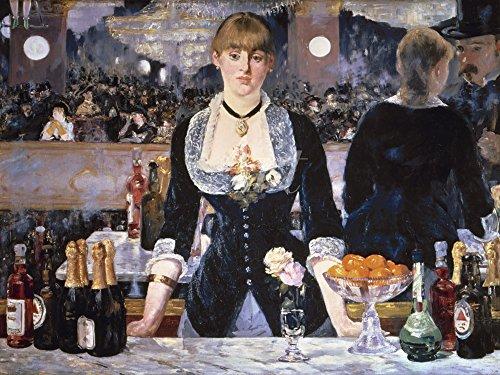 Artland Alte Meister Wandtattoo Edouard Manet Gemälde Kunstdruck 45 x 60 cm Die Bar des Folies-Bergeres 1881 Wandbild Realismus C2TH
