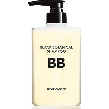 BLACK BOTANICAL SHAMPOO 400ml 育毛シャンプー 普通肌・オイリー肌用 薄毛 抜け毛 シャンプー 頭皮 ボリューム 毛髪にハリ、コシを与える メンズ 男性 女性用 ノンシリコン スカルプ【医薬部外品】