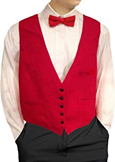 Mens Waiters/Bartenders Five Button Red Vest