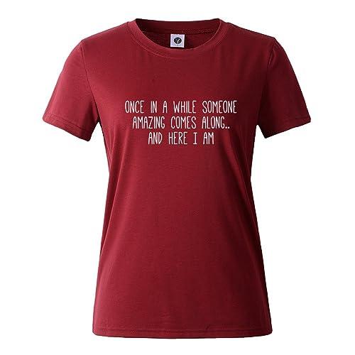 f32110eff Yeesea Summer Women's Cute Short Sleeve Tops Teen Girl Tee Funny T Shirt