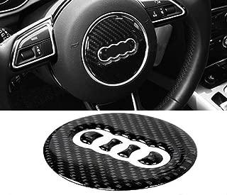 Carbon Fiber Steering Wheel Decoration Trim Car Steering Wheel Cover for Audi A4L A1 A3 A5 A6L A7 Q7 Q5 Q3 A8