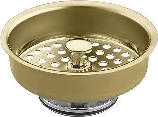 KOHLER K-8803-PB Duostrainer Basket Strainer, Vibrant Polished Brass