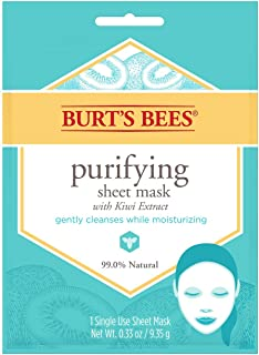 Burt's Bees Purifying Sheet Mask With Kiwi Extract Mask, 0.33 Ounce