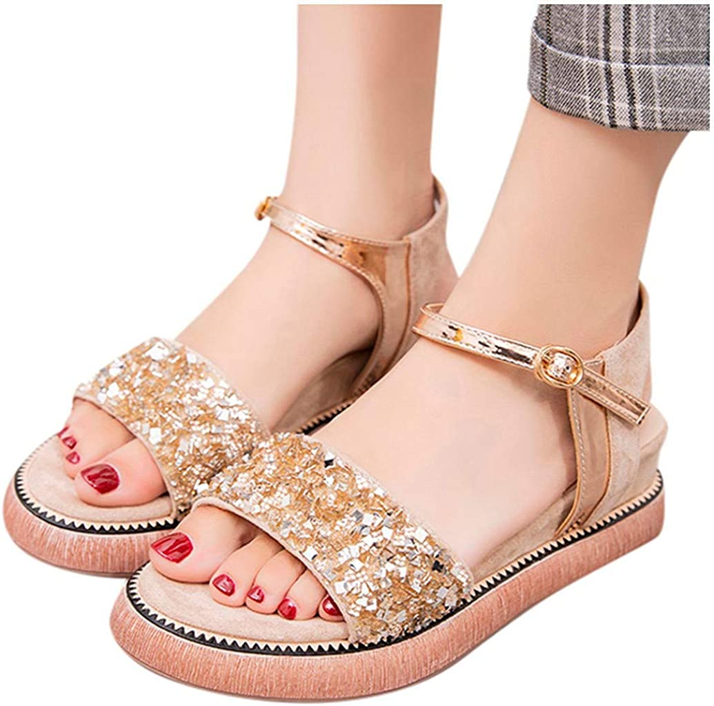 Women Thick-Soled Sandals Round Toe