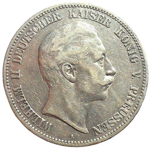 Münze Silber 5 Mark 1900 A Preußen Wilhelm II - Prachtexemplar - Kaiserreich