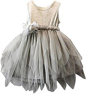 Tonsee ガールズワンピース 子供服 フラワーガールズドレス かわいい プリンセスドレス