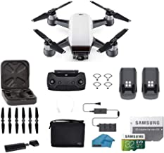 DJI Spark Intelligent Portable Mini Drone Quadcopter, Fly More Combo, with MUST HAVE ACCESSORIES, 2 Batteries, 32 GB SD Ca...