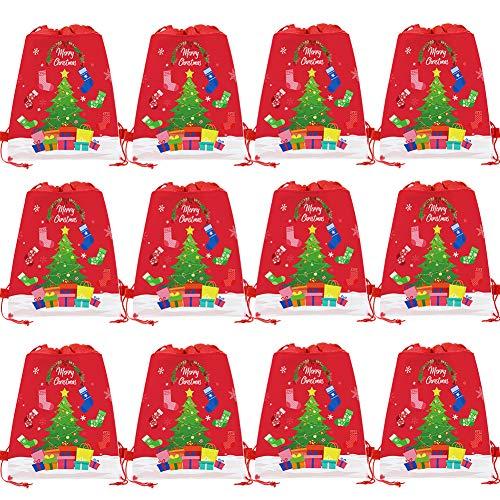 BETOY Bolsas con Cordón 12 Piezas Mochila con Cordón para Niños Bolsas Regalo de Cumpleaños Navidad Regalos Niños Niñas