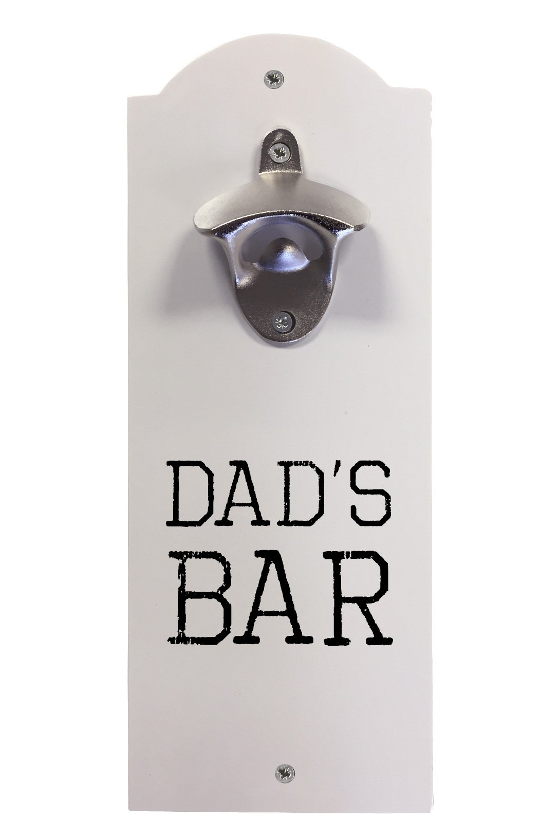 Amazon Com Customizable Wall Mounted Bottle Opener Personalized With Custom Text Kitchen Dining