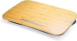 イーサプライ ひざ上テーブル 膝上テーブル ノートパソコン タブレット 15.6インチ ラップトップテーブル 木目調 ビーズクッション EZ2-HUS009