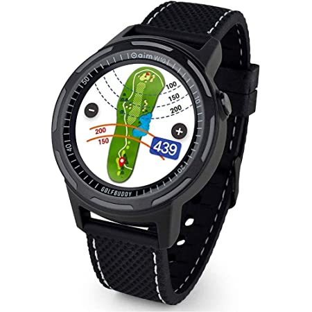 Golf Buddy Aim Golf GPS Watch, Premium Full Color Touchscreen, Preloaded with 40,000 Worldwide Courses, Easy-to-use Golf Watches