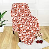 ASPMIZ Red Love Heart Throw Blanket, Mother's Day Valentine's Day Plaid Blanket for Mom Girlfriend Gifts, Soft Flannel Blanket Throw, Warm Cozy Blanket for Couch Bedding Sofa Bedroom, 50 x 60 inch