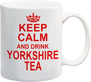 Houd kalm en drink Yorkshire thee rode mok