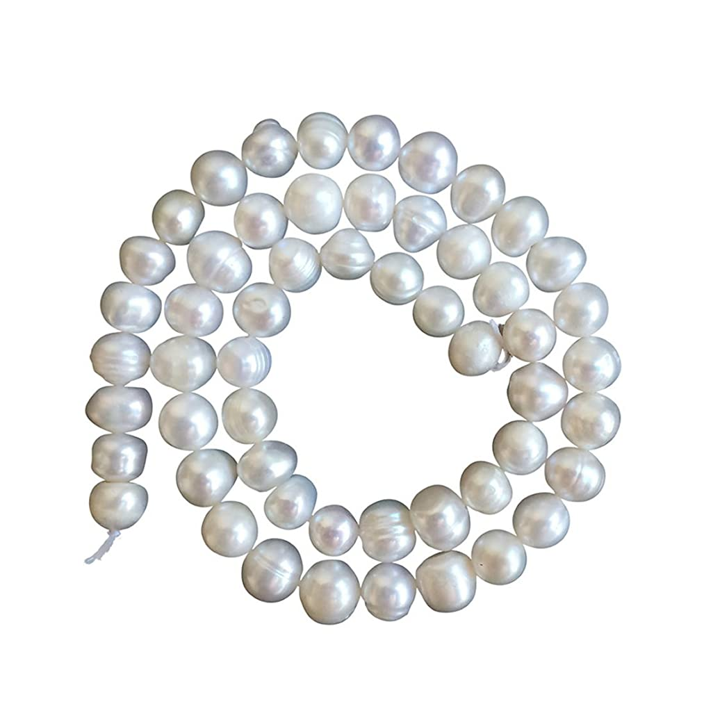 1 strand Natural A+ Quality Round White Cultured Freshwater Pearl Loose Beads 6-7mm for Jewelry Making ~ 15 inch fp2-67
