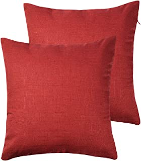 red throw pillow covers