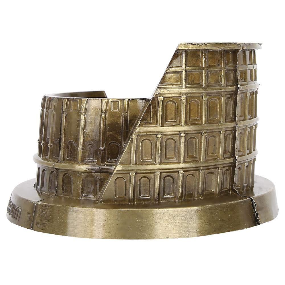 PROW Metal Rome Colosseum Model Retro Bronze Ancient Architecture Handmade Craft Home Desktop D/écor Collectible Artificial World Famous Buildings Sculpture