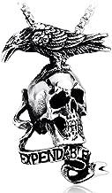 Punk titanium steel skull pendant necklace Expendables 2 Accessories